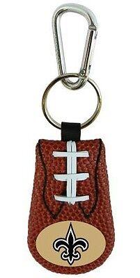 New Orleans Saints Classic Leather Football Keychain (New) Key Chain Jewelry NFL Classic Nfl Football Keychain