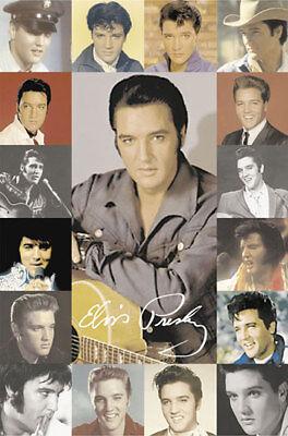 Elvis Presley Composite Rock Music Poster 24x36 Rock Music Poster
