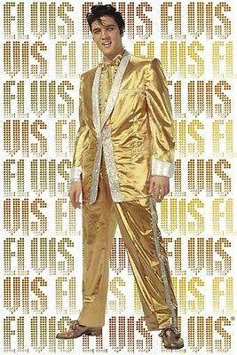 ELVIS PRESLEY ~ PURE GOLD SUIT 24x36 MUSIC POSTER NEW/ROLLED!