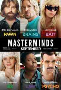 MASTERMINDS - Wed, Sept 28 at Scotiabank Theatre -  4 tickets