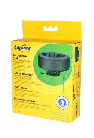 """3-Pack Laguna Floating Pond Plant Basket Replacement Bags Small 10"""" P/984"""