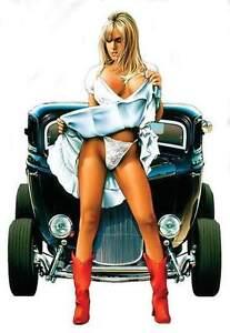 SEXY-BLOND-PINUP-GIRL-White-PANTIES-STICKER-VINYL-DECAL-Art-By-Dave-Nestler