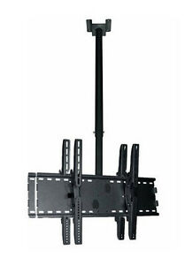 Support double pour TV à plafond