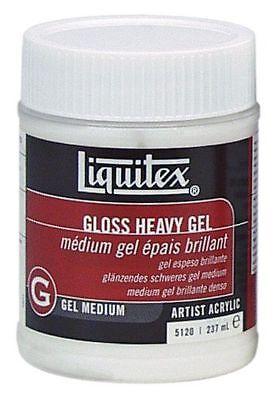 LIQUITEX / COLART 5120 GLOSS HEAVY GEL MEDIUM 8OZ