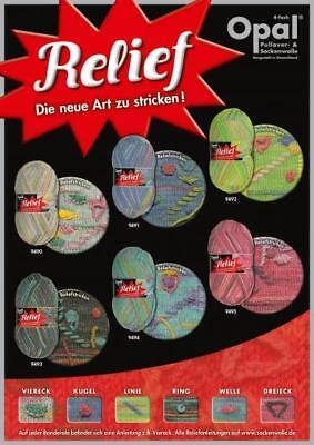 (7,00€/100g)*Relief* Sockenwolle von Opal, 100g, 4fach, Die neue Art zu stricken ()