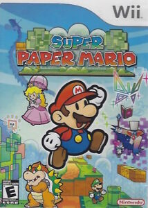 Super Paper Mario - Nintendo Wii w/ Case and Instruction Booklet