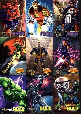 Marvel Creators Collection 1998 Fleer Skybox set of 72 cards without checklist