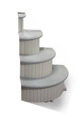 Confer Gray 4-Step Above Ground Swimming Pool Entry Steps Curved Add-on (Used)