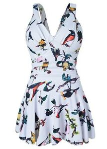 Brand New Bird Print Swim Suit
