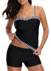NEW Swimsuit Black Tankini Set