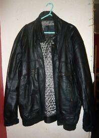 Men's Black BHS Genuine Leather Jacket