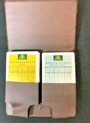 Vintage Benson & Hedges 100's Cigarette Playing Cards In Vinyl Case Mint