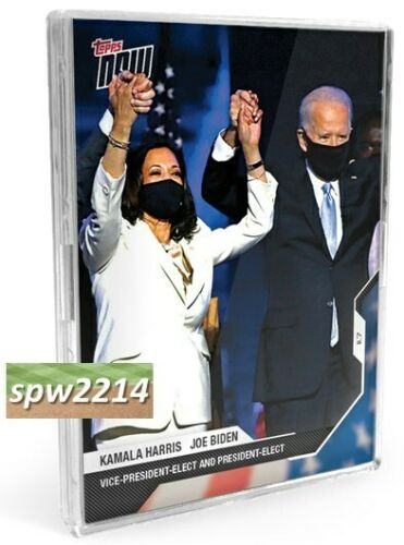 2020 Topps Now Election (3 cards) Joe Biden #10, Kamala Harris #11, #12