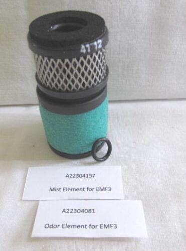 Set of Elements for EMF3 Oil Mist Filter, A223-04-197 Mist and A223-04-081 Odor