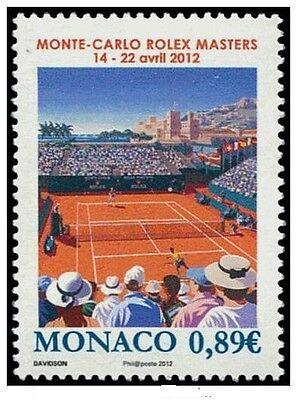 monaco ca 2012 monte carlo rolex masters sport tennis 1v mnh **