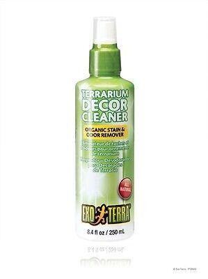Exo terra Reptile Terrarium Decor Cleaner Organic Stain & Odor Removal 8.4oz.