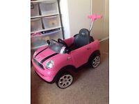 Pink Push Along Mini Copper Toy Car