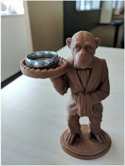 Cute Monkey Butler 3D Printed for Rings, Ash Tray, Soap, Candles, Keys, etc.