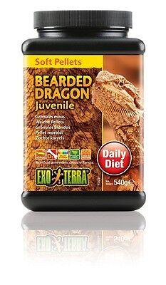 Exo Terra Reptile Bearded Dragon Juvenile Soft Pellets Food Diet 1 Lb.3 oz. 540g