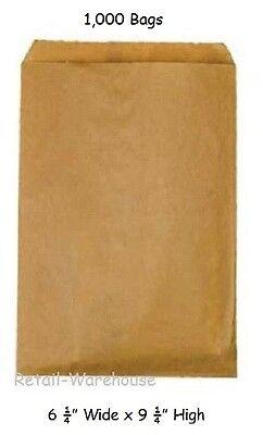 "Natural Merchandise Paper Bag - Paper Bags Kraft 1000 Natural Retail Gift Merchandise 6 ¼"" x 9 ¼"" Small"