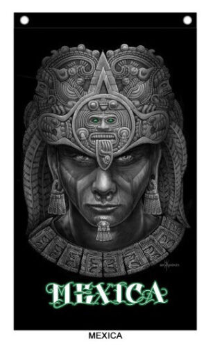 David Gonzales Art Chicano Mexicano Lowrider Mexica  Banner Aztec