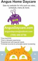 Daycare available in Angus / Borden / Essa www.AngusDaycare.com