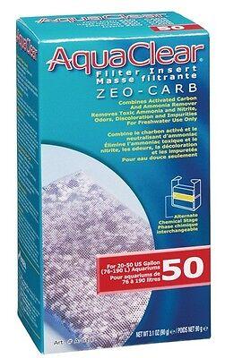 AquaClear 50 Zeo-Carb Filter Insert Ammonia Remover & Carbon A614 A-614 ZeoCarb