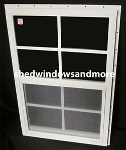 18 x 27 shed window safety glass white j channel playhouse for 18 x 60 window