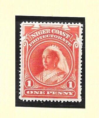 NIGERIA : NIGER COAST 1897 perf 14½  1d or. vermilion wmk CA vf MINT hinged S 67