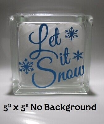 Cute Let it Snow Christmas Decal Sticker for 6