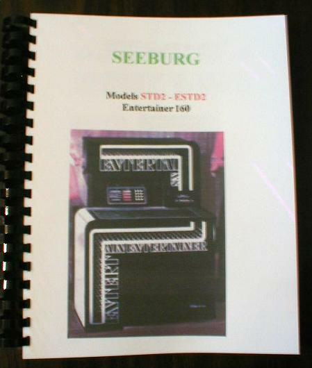 Seeburg Model STD2 ESTD2 Entertainer Jukebox Manual