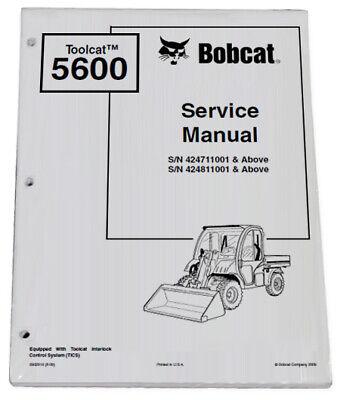 Bobcat 5600 Toolcat Utility Vehicle Service Manual Shop Repair Book 2 6902819