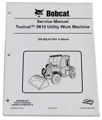 Bobcat 5610 Toolcat Utility Vehicle Service Manual Owners Maintenance Manual 3