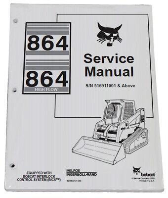 Bobcat 864 Compact Track Loader Service Manual Shop Repair Book 1 Part 6900627
