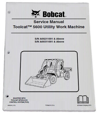Bobcat 5600 Toolcat Utility Vehicle Service Manual Shop Repair Book 3 6904209