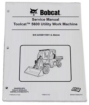 Bobcat 5600 Toolcat Utility Vehicle Service Manual Owners Maintenance Manual 6