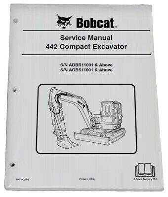Bobcat 442 Compact Excavator Service Manual Shop Repair Book Part 6987204