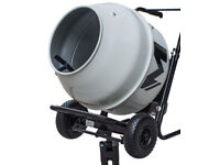 Concrete mixer - 100litre capacity, electric driven, little used - originally from B&Q