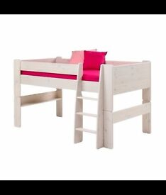 Midsleeper Single Bed - White