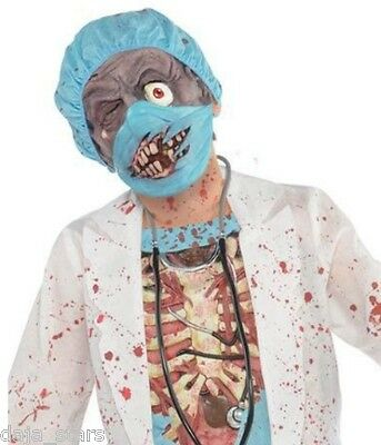 ★ Zombie Scary Kinder Arzt Chirurg Dokter,Surgeon Halloween Kostüm,Maske 128-164