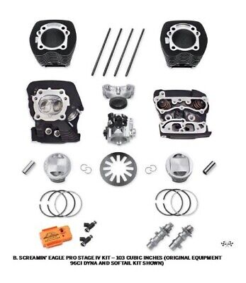 Harley-Davidson Twin Cam 1690 Stage 2 EFI Kit Silver P/N -