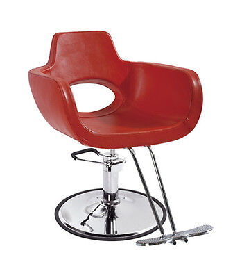 BestSalon Red Modern Hydraulic Barber Chair Styling Salon...