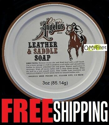 3oz Angelus Leather Saddle Soap Baseball Gloves Shoes Boots Luggage Upholstery  for sale  Shipping to India