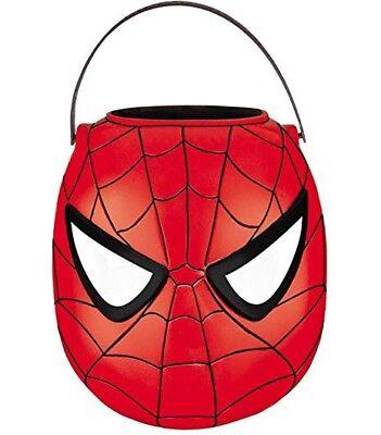 Marvel Spider-Man Folding Halloween Treat Pail / Spiderman Prop / FREE Gift!