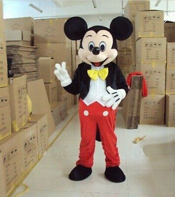 Mickey Costume Adult (【Top Sale】Hot Mickey Mouse Mascot Costume Adult Size Party Dress Suit)