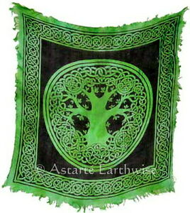 TREE OF LIFE ALTAR CLOTH 457 x 457 mm Wicca Pagan Witch