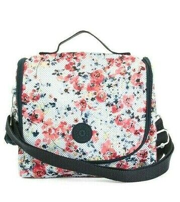 Kipling Kichirou Lunch Tote  Insulated Floral Busy Blossoms Lunch Bag Nwt