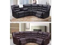New Roma recliner corner sofa leather