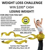 Nutrition Classes Free! Weight Loss Challenge $35!