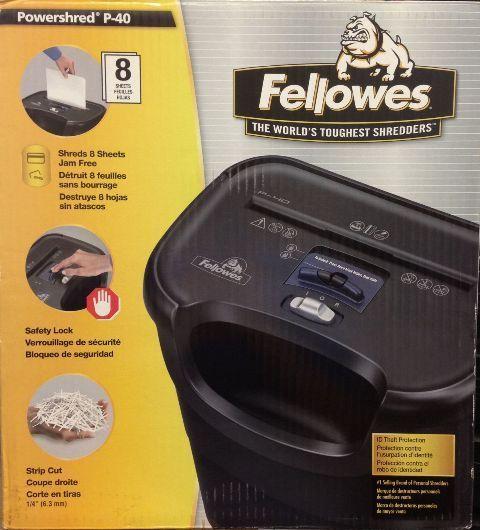 Fellowes Powershred P-40 Strip-Cut Shredder